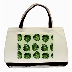 Leaf Pattern Seamless Background Basic Tote Bag (two Sides)