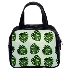 Leaf Pattern Seamless Background Classic Handbags (2 Sides)