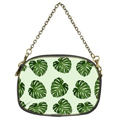 Leaf Pattern Seamless Background Chain Purses (one Side)