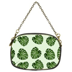 Leaf Pattern Seamless Background Chain Purses (two Sides)
