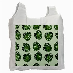 Leaf Pattern Seamless Background Recycle Bag (one Side)