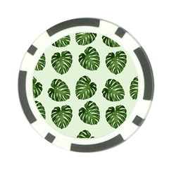 Leaf Pattern Seamless Background Poker Chip Card Guard (10 pack)