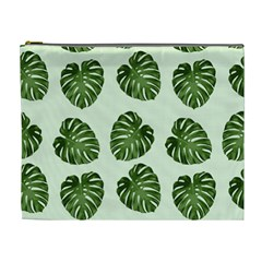 Leaf Pattern Seamless Background Cosmetic Bag (xl)