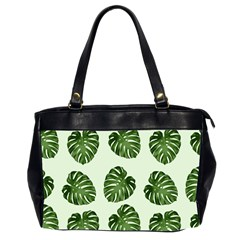 Leaf Pattern Seamless Background Office Handbags (2 Sides)