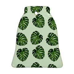 Leaf Pattern Seamless Background Ornament (Bell)