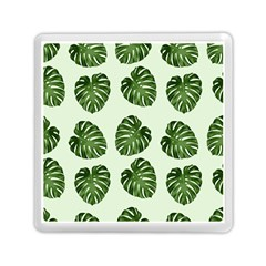 Leaf Pattern Seamless Background Memory Card Reader (square)