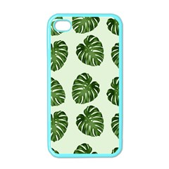 Leaf Pattern Seamless Background Apple iPhone 4 Case (Color)