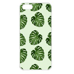 Leaf Pattern Seamless Background Apple iPhone 5 Seamless Case (White)