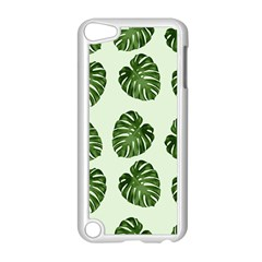 Leaf Pattern Seamless Background Apple iPod Touch 5 Case (White)