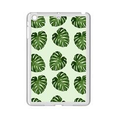 Leaf Pattern Seamless Background iPad Mini 2 Enamel Coated Cases