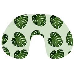Leaf Pattern Seamless Background Travel Neck Pillows