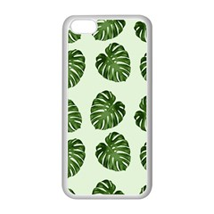 Leaf Pattern Seamless Background Apple Iphone 5c Seamless Case (white)