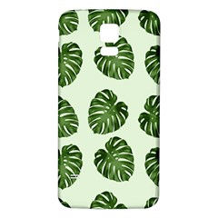 Leaf Pattern Seamless Background Samsung Galaxy S5 Back Case (White)