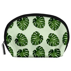 Leaf Pattern Seamless Background Accessory Pouches (Large)
