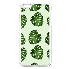 Leaf Pattern Seamless Background Apple Iphone 6 Plus/6s Plus Enamel White Case