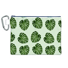 Leaf Pattern Seamless Background Canvas Cosmetic Bag (XL)