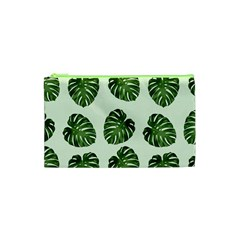 Leaf Pattern Seamless Background Cosmetic Bag (XS)