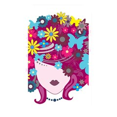 Beautiful Gothic Woman With Flowers And Butterflies Hair Clipart Memory Card Reader