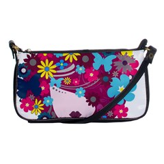 Beautiful Gothic Woman With Flowers And Butterflies Hair Clipart Shoulder Clutch Bags