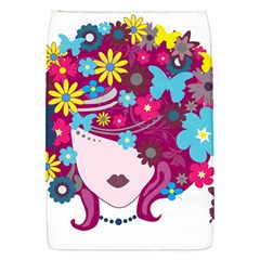 Beautiful Gothic Woman With Flowers And Butterflies Hair Clipart Flap Covers (s)