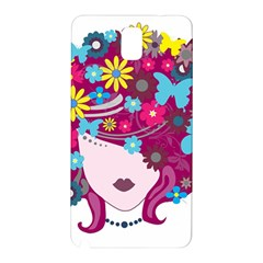 Beautiful Gothic Woman With Flowers And Butterflies Hair Clipart Samsung Galaxy Note 3 N9005 Hardshell Back Case