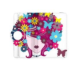 Beautiful Gothic Woman With Flowers And Butterflies Hair Clipart Kindle Fire HDX 8.9  Flip 360 Case