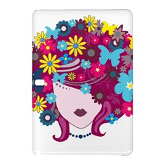 Beautiful Gothic Woman With Flowers And Butterflies Hair Clipart Samsung Galaxy Tab Pro 12.2 Hardshell Case