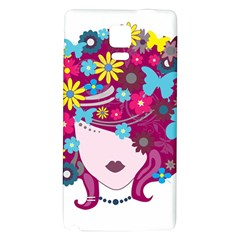 Beautiful Gothic Woman With Flowers And Butterflies Hair Clipart Galaxy Note 4 Back Case