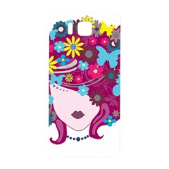 Beautiful Gothic Woman With Flowers And Butterflies Hair Clipart Samsung Galaxy Alpha Hardshell Back Case