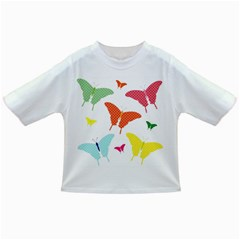 Beautiful Colorful Polka Dot Butterflies Clipart Infant/toddler T Shirts
