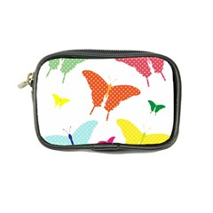 Beautiful Colorful Polka Dot Butterflies Clipart Coin Purse