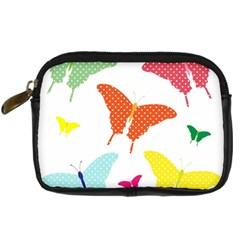 Beautiful Colorful Polka Dot Butterflies Clipart Digital Camera Cases