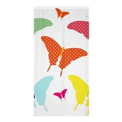 Beautiful Colorful Polka Dot Butterflies Clipart Shower Curtain 36  x 72  (Stall)