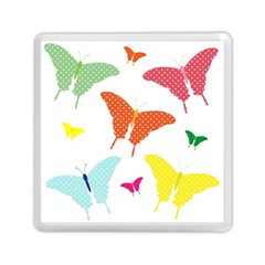 Beautiful Colorful Polka Dot Butterflies Clipart Memory Card Reader (square)