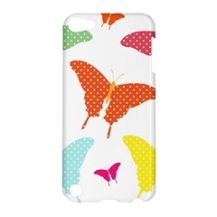Beautiful Colorful Polka Dot Butterflies Clipart Apple iPod Touch 5 Hardshell Case