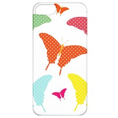 Beautiful Colorful Polka Dot Butterflies Clipart Apple iPhone 5 Classic Hardshell Case