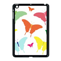 Beautiful Colorful Polka Dot Butterflies Clipart Apple iPad Mini Case (Black)