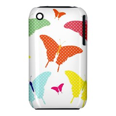 Beautiful Colorful Polka Dot Butterflies Clipart iPhone 3S/3GS