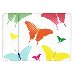 Beautiful Colorful Polka Dot Butterflies Clipart Samsung Galaxy Tab 8 9  P7300 Flip Case