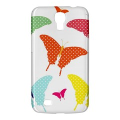 Beautiful Colorful Polka Dot Butterflies Clipart Samsung Galaxy Mega 6 3  I9200 Hardshell Case