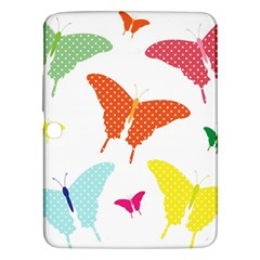 Beautiful Colorful Polka Dot Butterflies Clipart Samsung Galaxy Tab 3 (10 1 ) P5200 Hardshell Case