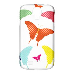 Beautiful Colorful Polka Dot Butterflies Clipart Samsung Galaxy S4 Classic Hardshell Case (PC+Silicone)