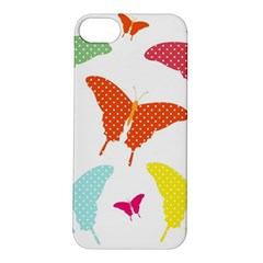 Beautiful Colorful Polka Dot Butterflies Clipart Apple iPhone 5S/ SE Hardshell Case