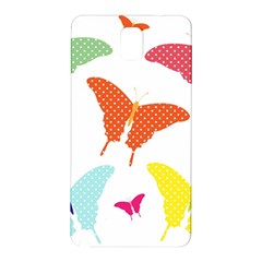 Beautiful Colorful Polka Dot Butterflies Clipart Samsung Galaxy Note 3 N9005 Hardshell Back Case