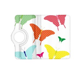Beautiful Colorful Polka Dot Butterflies Clipart Kindle Fire HD (2013) Flip 360 Case