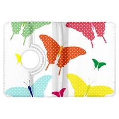 Beautiful Colorful Polka Dot Butterflies Clipart Kindle Fire Hdx Flip 360 Case