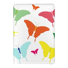 Beautiful Colorful Polka Dot Butterflies Clipart Samsung Galaxy Tab Pro 12.2 Hardshell Case