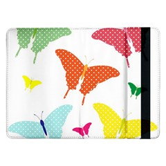 Beautiful Colorful Polka Dot Butterflies Clipart Samsung Galaxy Tab Pro 12.2  Flip Case