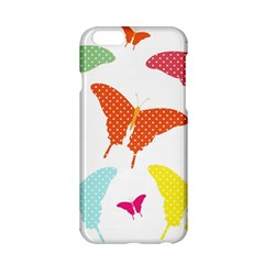 Beautiful Colorful Polka Dot Butterflies Clipart Apple iPhone 6/6S Hardshell Case