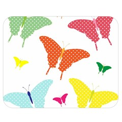 Beautiful Colorful Polka Dot Butterflies Clipart Double Sided Flano Blanket (Medium)